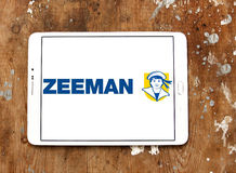 Zeeman stores logo. Logo of Zeeman stores on samsung tablet on wooden background. Zeeman is a European chain store with about 1,000 establishments in the Royalty Free Stock Photo