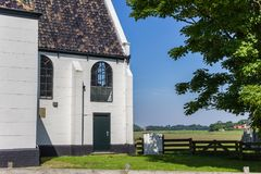 Zeemanskerk church in Oudeschild on Texel island. Holland royalty free stock photo