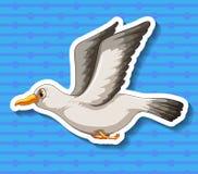 Zeemeeuw stock illustratie