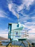 Zeemeeuw onder de blauwe hemel stock fotografie
