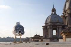 Zeemeeuw op het dak van het Vatikaan Royalty-vrije Stock Fotografie