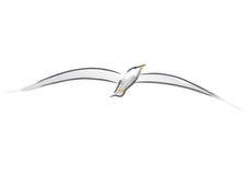Zeemeeuw (vector) vector illustratie