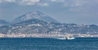 Zeemening van de Amalfi Kust in Italië stock fotografie