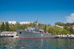 Zeemijnenveger van de Vloot van de Zwarte Zee van de Russische Marine bij de Baai van Sebastopol Royalty-vrije Stock Fotografie