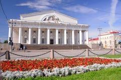 Zeemuseum, vroegere beurs, St. Petersburg Rusland Royalty-vrije Stock Foto
