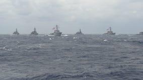Zeeoorlogsschepen Stock Afbeeldingen