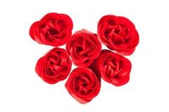 Zeep in de vorm van knoppen van rozen Stock Fotografie