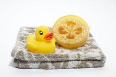 Zeep en handdoek Royalty-vrije Stock Afbeeldingen