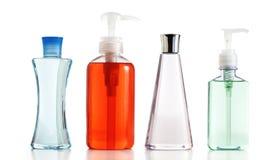 Zeep/lotion/shampoo tegen wit Royalty-vrije Stock Fotografie