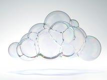 Zeepbel in de vorm van een wolk Stock Afbeeldingen