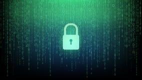 Zeer belangrijke het computersysteemachtergrond van de pictogramveiligheid stock illustratie