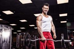 Zeer bodybuilder van de machts de atletische kerel royalty-vrije stock afbeelding