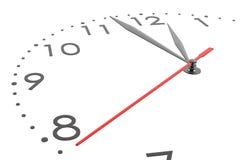 Zeer dichte details van groot horloge Stock Foto's