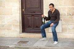 Zeer dronken mens royalty-vrije stock foto's