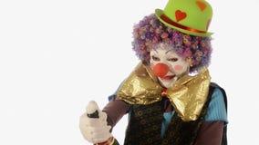 Zeer gelukkig nieuw jaar met de clown stock video