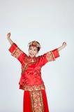 Zeer Gelukkige Chinese Bruid Stock Fotografie