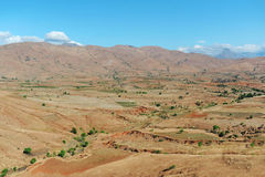 Zeer grote mening over de vallei Andringitrapark madagascar Panoramique Royalty-vrije Stock Afbeeldingen