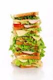 Zeer grote sandwich Stock Afbeelding
