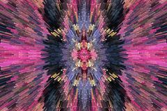Zeer heldere en bont abstractie Stock Foto