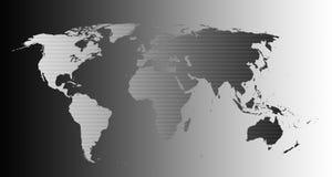Zeer hoog gedetailleerde wereldkaart Stock Afbeeldingen