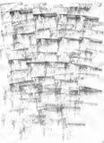ZEER HOOGTEresolutie Geometrische graffiti abstracte achtergrond Behang met luchtpenseeleffect Zwarte acrylverf Royalty-vrije Stock Fotografie