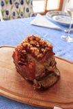 Zeer kernachtig braadstukvarkensvlees - knapperig stock afbeelding