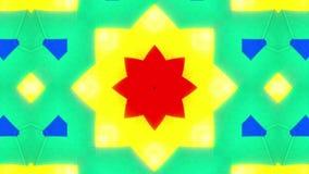 Zeer kleurrijke caleidoscoop stock video