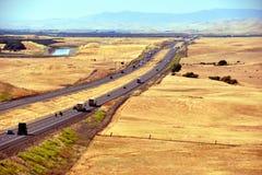 Zeer lange weg in Californië Stock Afbeeldingen