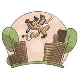 Zeer leuke en grappige geanimeerde boog-jongen illustratie vector illustratie