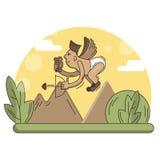 Zeer leuke en grappige geanimeerde boog-jongen illustratie royalty-vrije illustratie