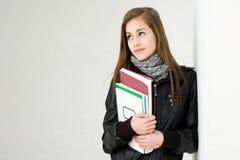 Zeer leuke jonge student. Stock Foto's
