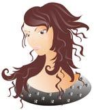 Zeer mooi meisje stock illustratie