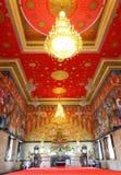 Zeer mooie belangrijkste Boedha met mural verf Royalty-vrije Stock Fotografie