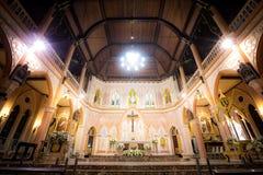 Zeer mooie Christelijke plaatsen in het land Kathedraal van de Onbevlekte Ontvangenis, Chanthaburi Thailand 18 Februari 2019 stock foto