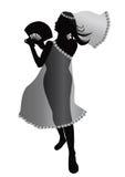 Dansend meisjessilhouet Royalty-vrije Stock Afbeelding