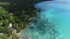 Zeer mooie lagune Bacalar in Mexico stock videobeelden