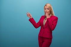 Zeer mooie TV-presentator Royalty-vrije Stock Foto