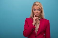 Zeer mooie TV-presentator Royalty-vrije Stock Afbeelding