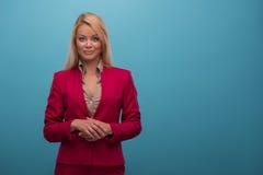 Zeer mooie TV-presentator Royalty-vrije Stock Fotografie
