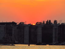 Zeer mooie zonsondergang Royalty-vrije Stock Afbeelding