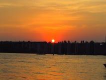 Zeer mooie zonsondergang Royalty-vrije Stock Foto's