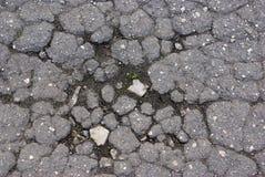 Zeer oud asfalt Royalty-vrije Stock Foto's