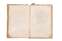 Zeer oud boek met Twee Blanco pagina's voor uw exemplaar Stock Afbeelding