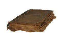 Zeer oud en versleten die boek op witte achtergrond wordt geïsoleerd Royalty-vrije Stock Afbeelding