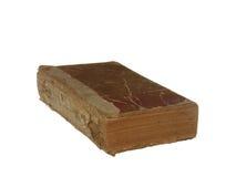 Zeer oud en versleten die boek op witte achtergrond wordt geïsoleerd Royalty-vrije Stock Foto's