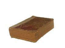 Zeer oud en versleten die boek op witte achtergrond wordt geïsoleerd Royalty-vrije Stock Afbeeldingen
