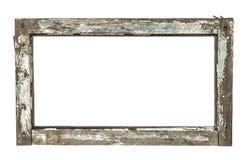 Zeer oud grunged houten raamkozijn Stock Fotografie