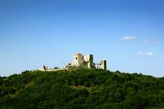 Zeer oud kasteel van Visegrad Stock Afbeelding