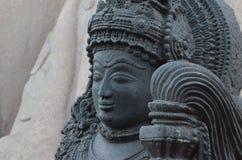 Zeer oud standbeeld van Yaksha Stock Afbeelding