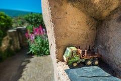 Zeer oud vrachtwagenstuk speelgoed Royalty-vrije Stock Afbeelding